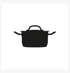 Pot icon in simple monochrome style vector