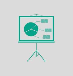 Presentation stand icon vector