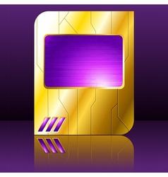 purple and gold futuristic sign vector image