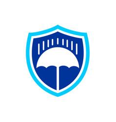 rain protection shield symbol design vector image