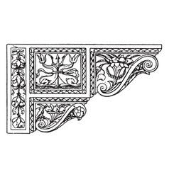 Renaissance console composite vintage engraving vector