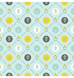seamless floral pattern with abstract flowers vector image