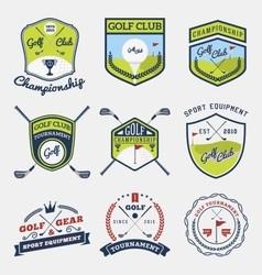 set golf club emblem vector image