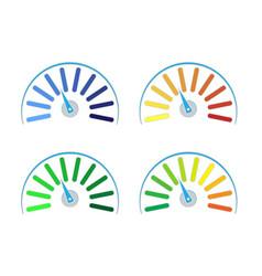 set of colored gauges vector image