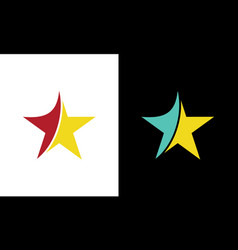 star swirl logo vector image
