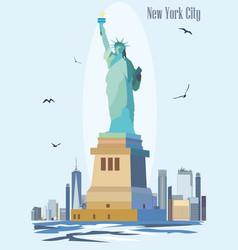 Statue liberty image vector