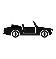 summer cabriolet icon simple style vector image