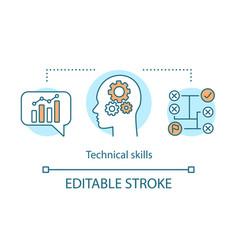 Technical skills concept icon vector