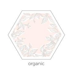 template organic 5 vector image