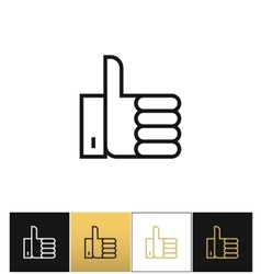 Thumb Up symbol or best choice icon vector image