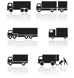 truck or van symbol set vector image