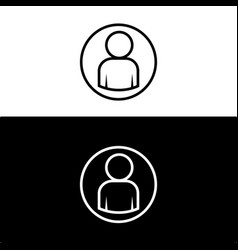 user icon flat design vector image