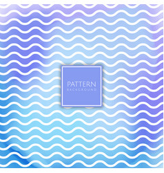 Wavy lines pattern on watercolour texture vector