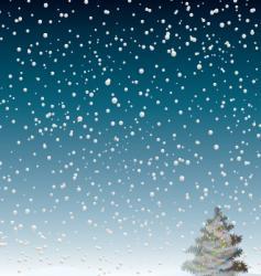 winter flurry vector image