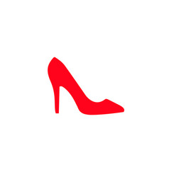womens shoe icon vector image