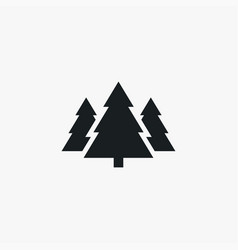 xmas tree icon simple winter sign vector image