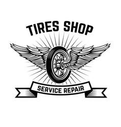 garage service station car repair design element vector image vector image
