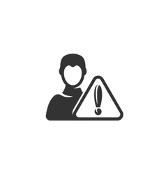 Warn user icon isolated on a white background vector image
