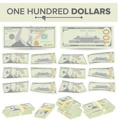100 dollars banknote cartoon us currency vector