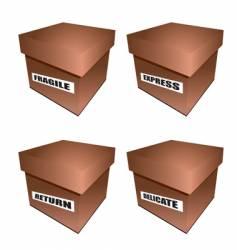 cardborad box notice vector image vector image