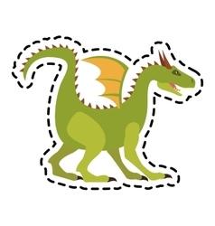 dragon cartoon icon vector image