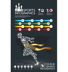 infographic spots icons set vector image vector image