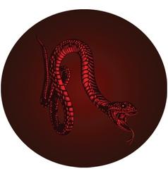 red monster snake vector image