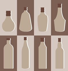 Set of alcohol bottle vector image