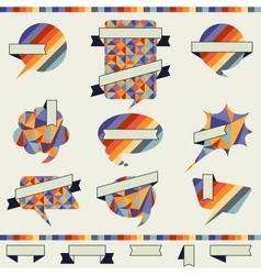 Speech bubble in retro style vector image