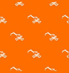 crane truck pattern seamless vector image vector image
