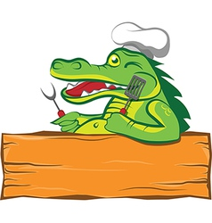 The cook-alligator vector image vector image