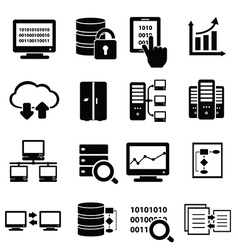 Data and information technology icons vector image