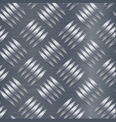 diamond metal plate seamless pattern vector image vector image