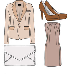 Female office clothes vector image vector image