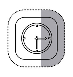 monochrome contour with square sticker of wall vector image vector image