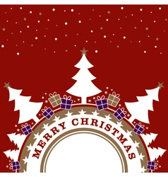 Red and gold Christmas design vector image
