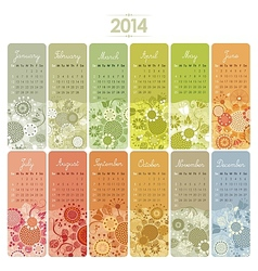 2014 Calendar Set vector image