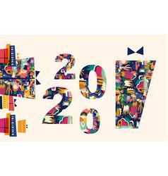2020 celebration vector image