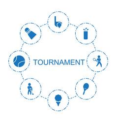 8 tournament icons vector