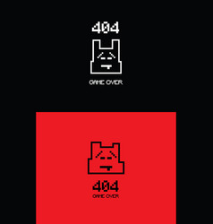 8bit 404 missing web page template vector image