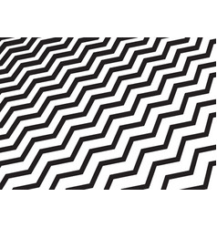 abstract diagonal black chevron wave or wavy vector image