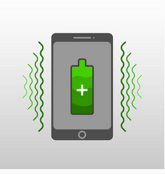 abstract drawing of a wireless mobile phone charge vector image