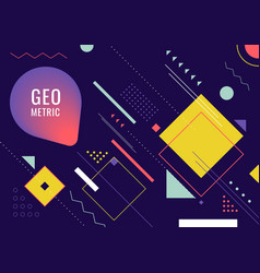 abstract geometric form line shape hipster vector image