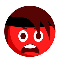 Angry emoji with a bandage vector