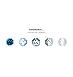 Antibacterial icon in different style two vector