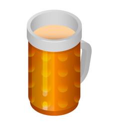 beer glass mug icon isometric style vector image