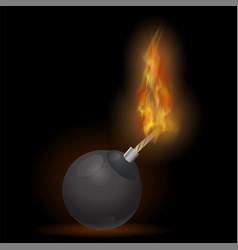 burning bomb icon vector image
