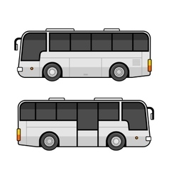 Bus Template Set on White Background vector