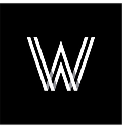 Capital letter W Logo monogram emblem vector