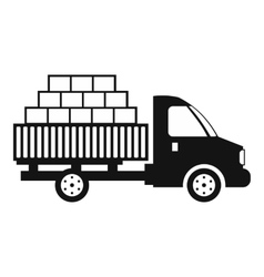 Cargo transportation by car black simple icon vector